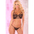 Pink Lipstick - 2 Pieces Lace Strappy Bra and G String Set M/L (Black)