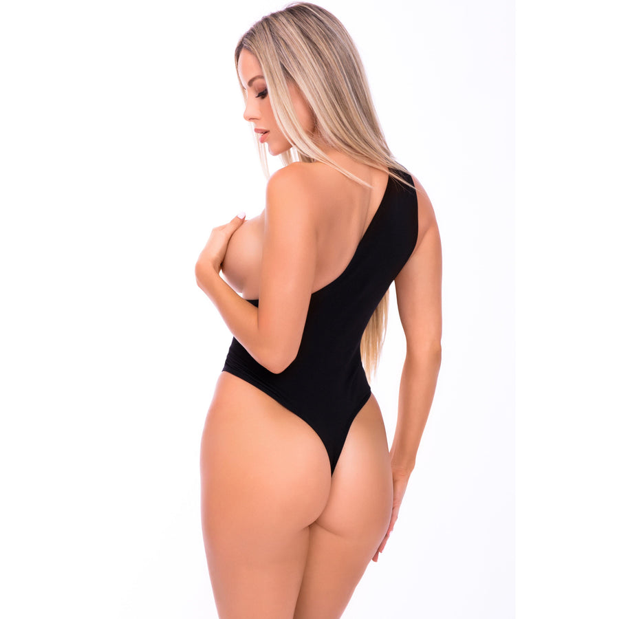 Pink Lipstick - Off The Wall Seamless Bodysuit Costume M/L (Black) Costumes 017036682087 CherryAffairs