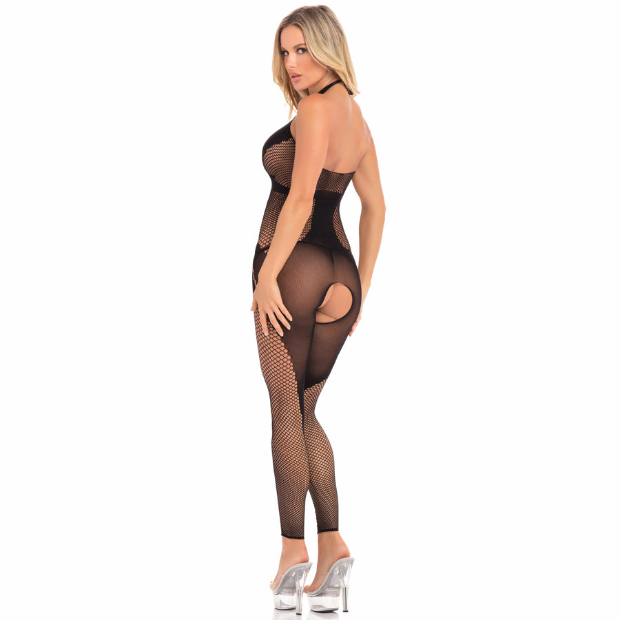 Pink Lipstick - On Rails Footless Bodystocking Costume M/L (Black) Costumes 017036649981 CherryAffairs
