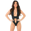Pink Lipstick - Take The Plunge Bodysuit Costume M/L (Black) Costumes 017036929182 CherryAffairs