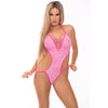 Pink Lipstick - V Is For Vixen Bodysuit Costume M/L (Pink) Costumes 017036879883 CherryAffairs