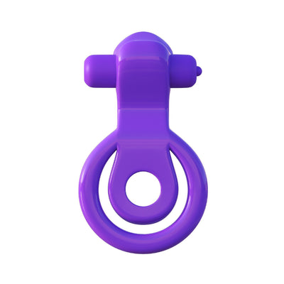 Pipedream - Fantasy C-Ringz Lovely Licks Couples Ring (Purple) Rubber Cock Ring (Vibration) Non Rechargeable - CherryAffairs Singapore