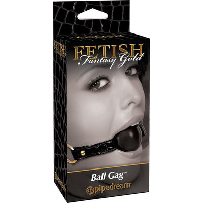 Pipedream - Fetish Fantasy Gold Ball Gag (Black) Ball Gag - CherryAffairs Singapore