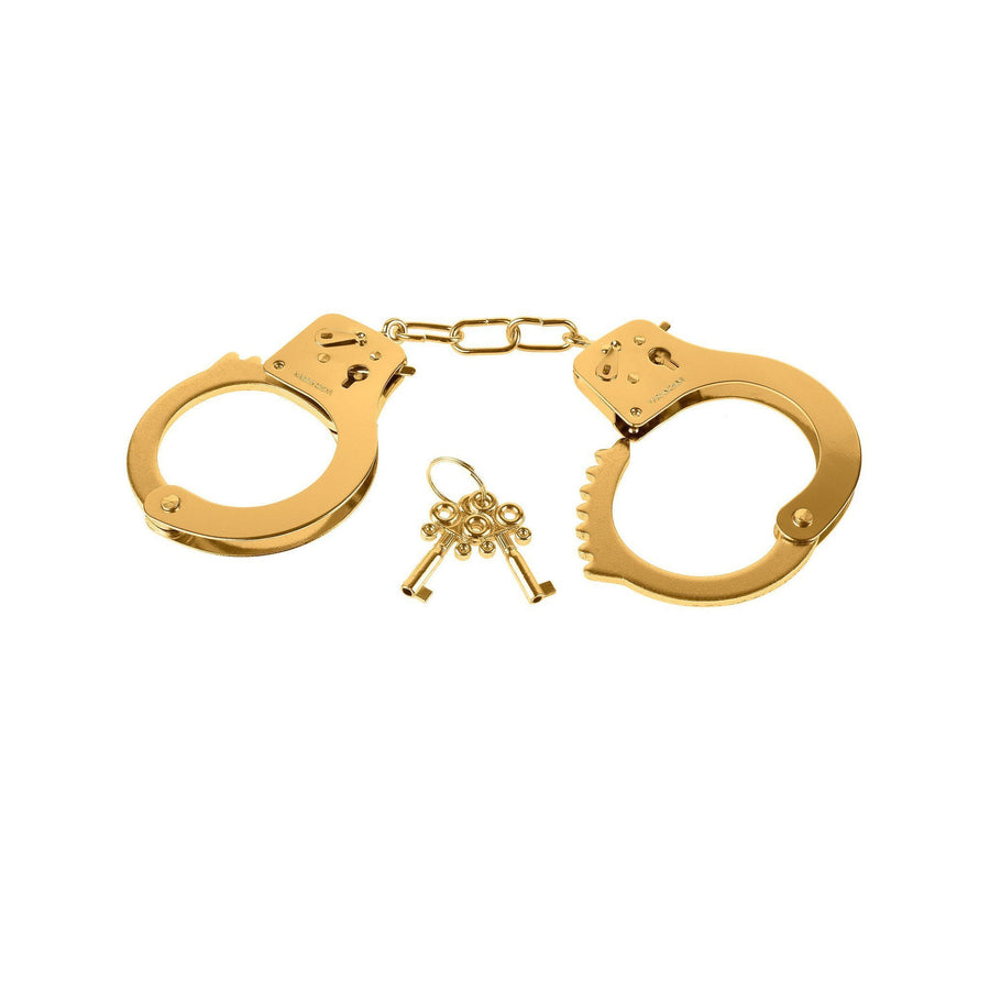 Pipedream - Fetish Fantasy Gold Metal Cuffs (Gold) Hand/Leg Cuffs - CherryAffairs Singapore