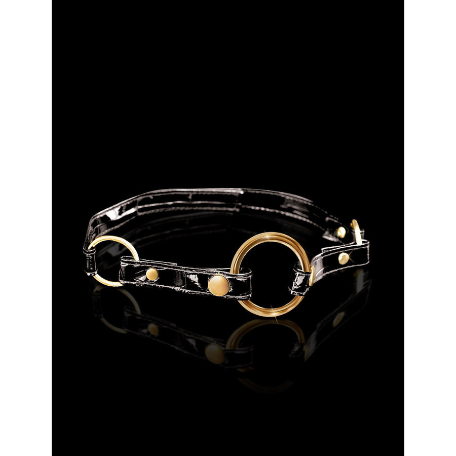 Pipedream - Fetish Fantasy Gold O-Ring Gag (Black) Ball Gag - CherryAffairs Singapore