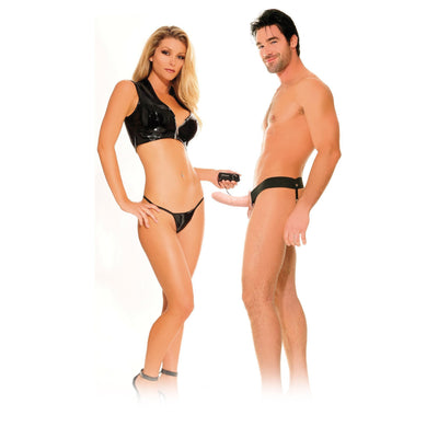 Pipedream - Fetish Fantasy Series For Him or Her Vibrating Hollow Strap-On (Beige) Strap On with Hollow Dildo for Male (Vibration) Non Rechargeable - CherryAffairs Singapore