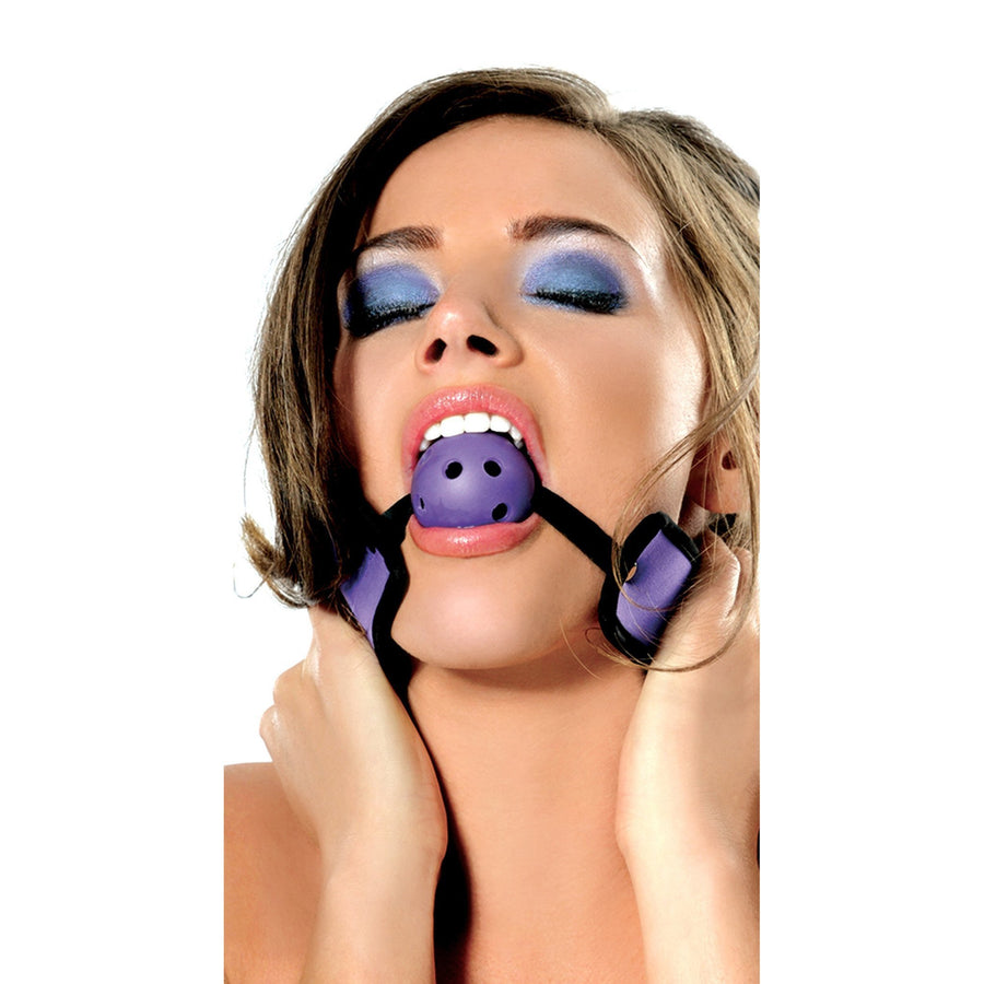 Pipedream - Fetish Fantasy Series Neoprene Breathable Ball Gag (Purple) Ball Gag - CherryAffairs Singapore