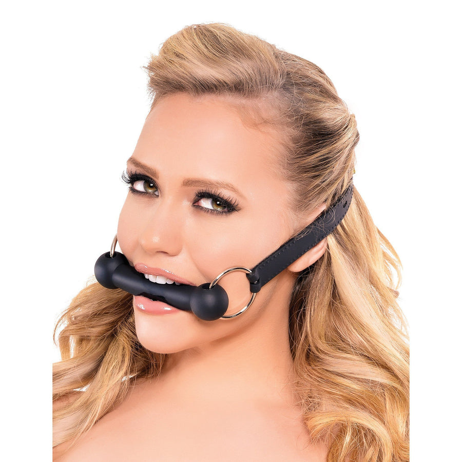 Pipedream - Fetish Fantasy Series Silicone Bit Gag (Black) Ball Gag - CherryAffairs Singapore