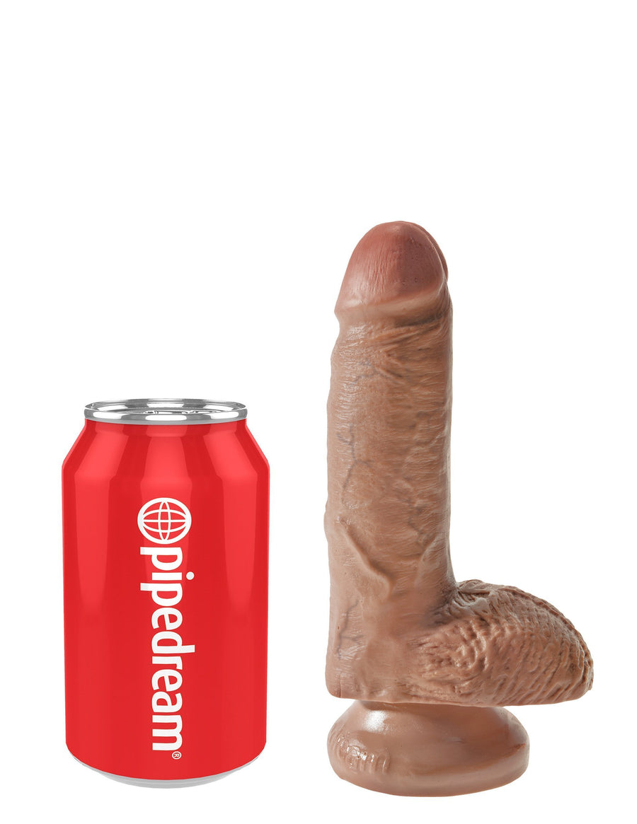 "Pipedream - King Cock 7"" Cock with Balls (Brown)"