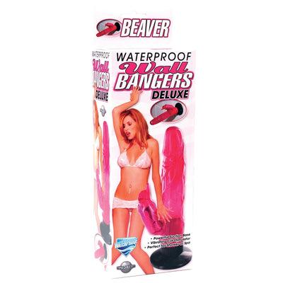 Pipedream - Waterproof Beaver Wall Bangers (Red) Realistic Dildo with suction cup (Vibration) Non Rechargeable - CherryAffairs Singapore