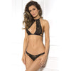 Rene Rofe - 3 Pieces Body Chain Choker Bra Set M/L (Black) Lingerie (Non Vibration) 017036587566 CherryAffairs