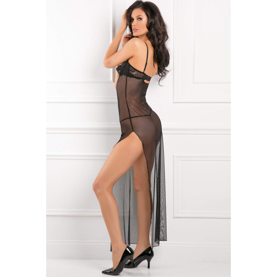 Rene Rofe - All Out There Open Cup Dress Costume M/L (Black)