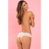 Rene Rofe - All Tied Up Open Back Panty M/L (White) Lingerie (Non Vibration) 017036000744 CherryAffairs