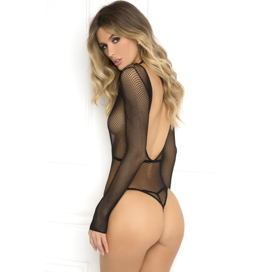 Rene Rofe - Body Plunge Harness Set Costume M/L (Black) Costumes 017036674037 CherryAffairs
