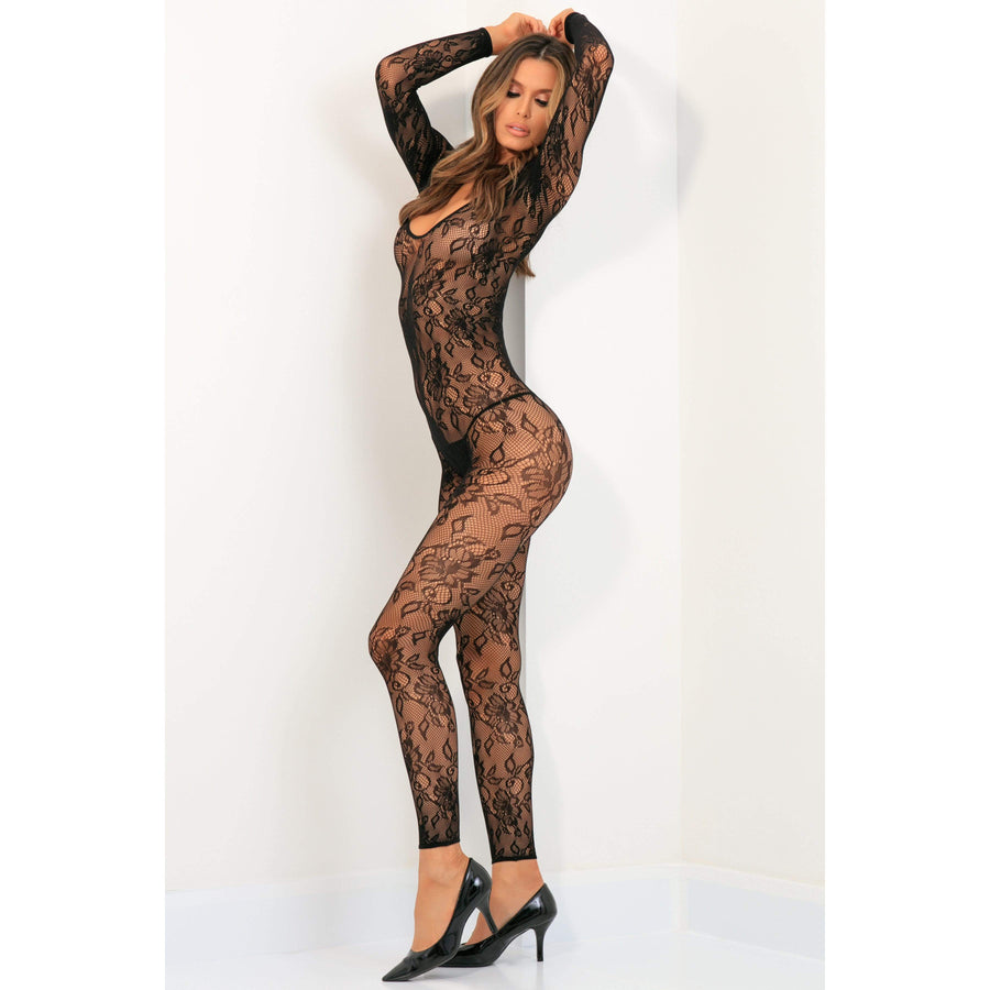Rene Rofe - Body Up Crotchless Bodystocking Costume M/L (Black) Costumes 017036769955 CherryAffairs