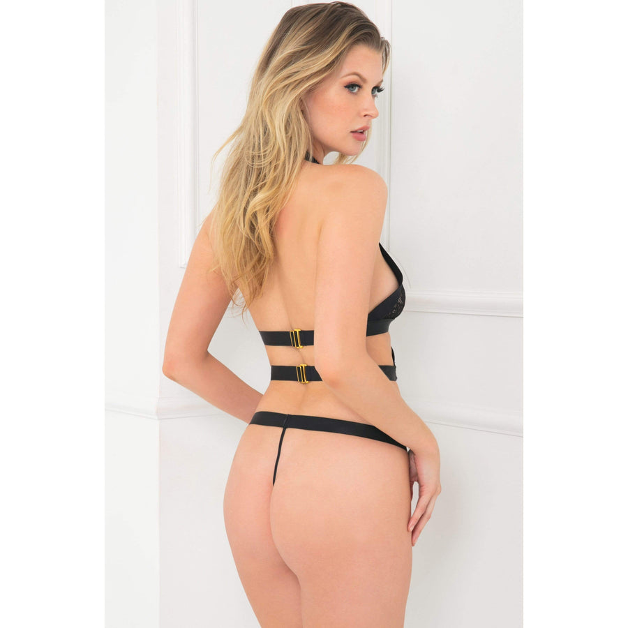 Rene Rofe - Come Together Bondage Teddy Costume M/L (Black) Costumes 017036605666 CherryAffairs