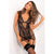 Rene Rofe - Deconstruct Me Chemise 2 Pieces Set M/L (Black)