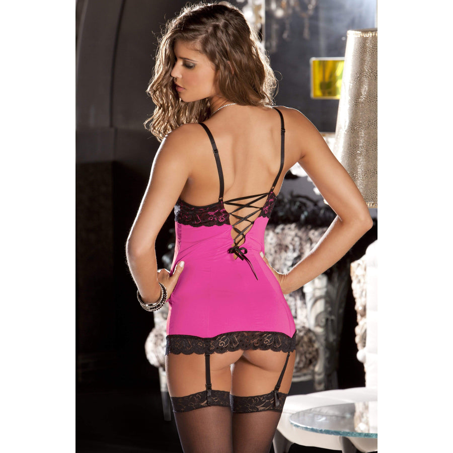 Rene Rofe - Hollywood Chemise With G String M/L (Pink) Chemises 017036979101 CherryAffairs