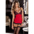 Rene Rofe - Hollywood Chemise With G String M/L (Red)