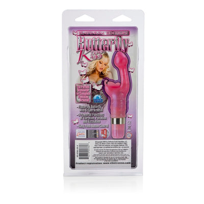 California Exotics - Platinum Edition Butterfly Kiss Rabbit Vibrator (Pink)