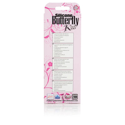 California Exotics - Silicone Butterfly Kiss Rabbit Vibrator (Pink)