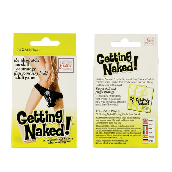 California Exotics - Getting Naked! Adult Couple Game