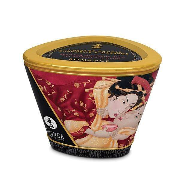 Shunga - Erotic Art Massage Candle Romance Strawberry Wine 5.7oz