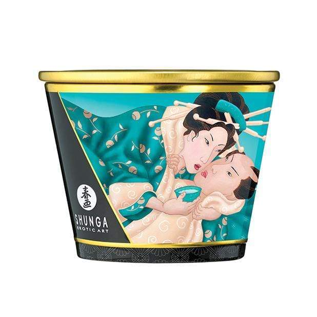 Shunga - Erotic Art Massage Candle Sensual Island Blossoms 5.7oz
