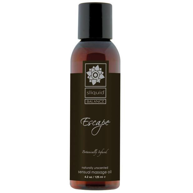 Sliquid - Balance Naturally Unscented Escape Massage Oil 4.2 oz