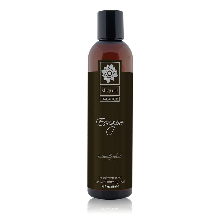Sliquid - Balance Naturally Unscented Escape Massage Oil 8.5 oz