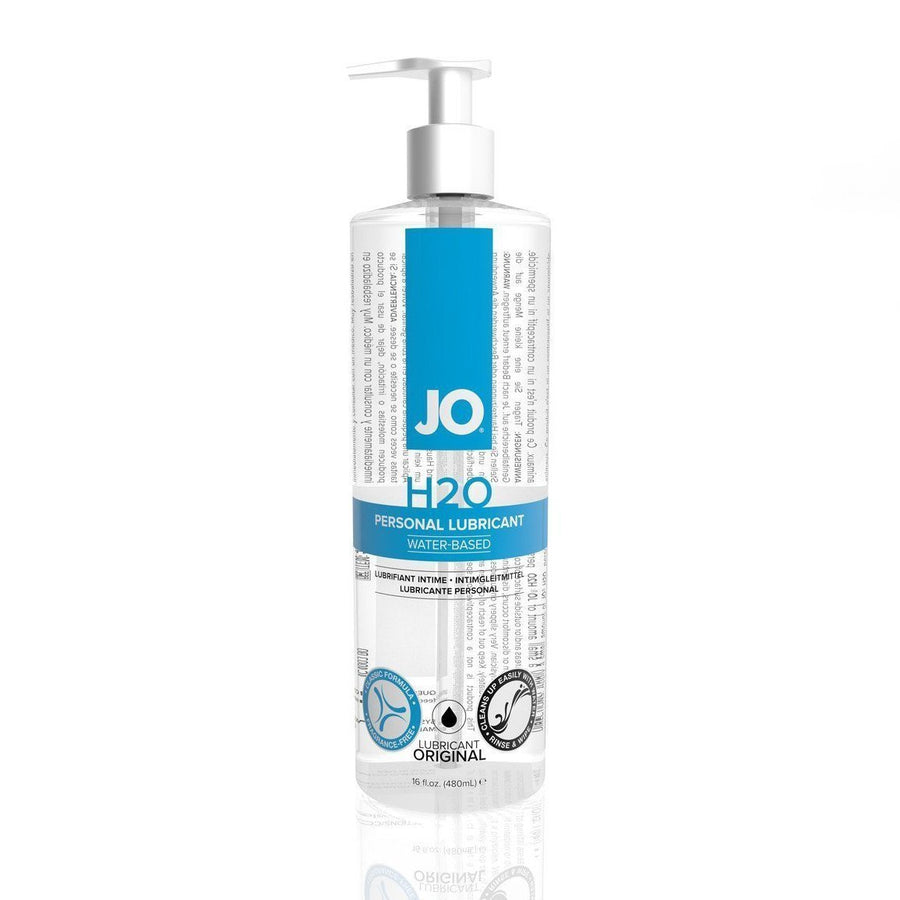 System JO - H2O Lubricant 480 ml (Lube) Lube (Water Based) - CherryAffairs Singapore