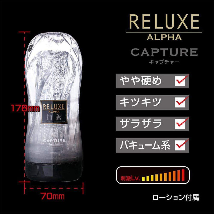 T-Best - Reluxe Alpha Capture Soft Stroker Hard Type (Clear) Masturbator Soft Stroker (Non Vibration) 4573423123640 CherryAffairs