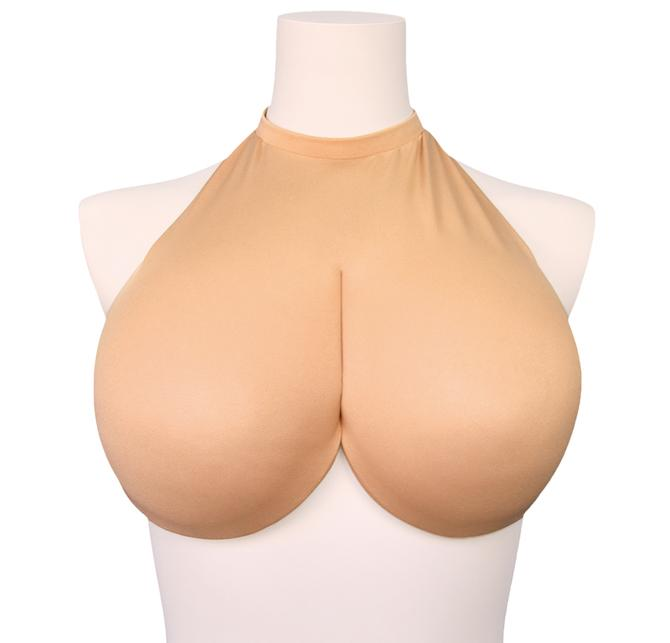 Tamatoys - Bakunyu Oppai Cosplay G Cup Imitation Breast Accessory (Beige)