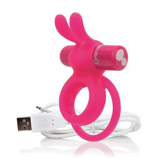 The Screaming O - Charged Ohare Rechargeable Wearable Rabbit Cock Ring (Pink)