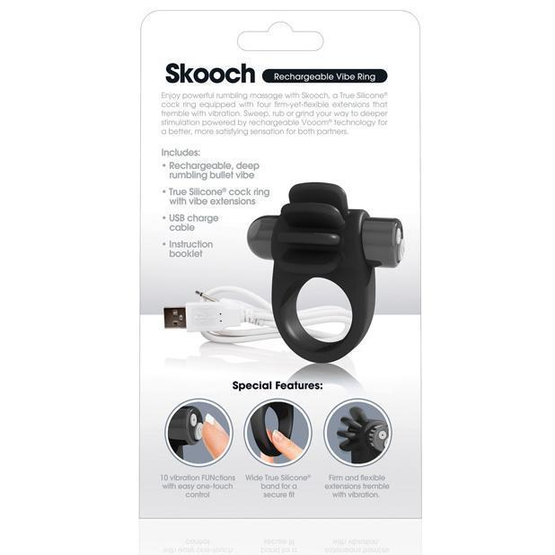 The Screaming O - Charged Skooch Rechargeable Silicone Cock Ring (Black)