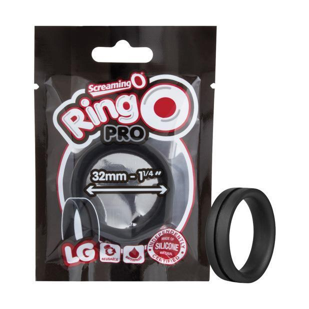 The Screaming O - Ring O Pro Silicone Cock Ring Large (Black) Silicone Cock Ring (Non Vibration) Singapore