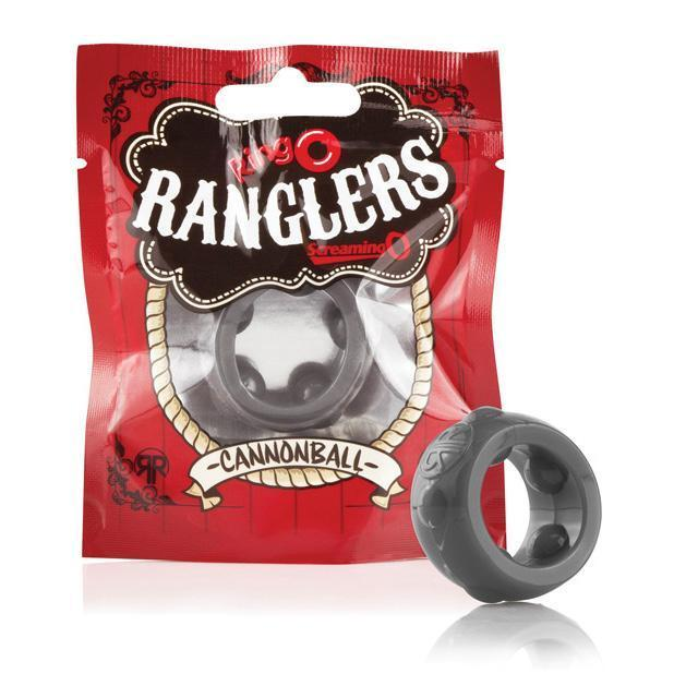 The Screaming O - Ring O Ranglers Cannonball Silicone Cock Ring (Black)
