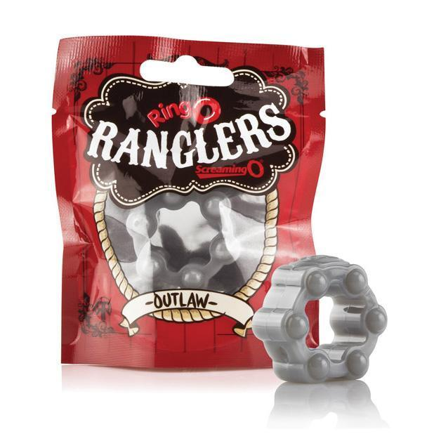 The Screaming O - Ring O Ranglers Outlaw Silicone Cock Ring (Grey)