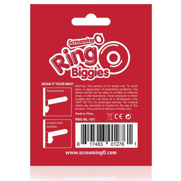 The Screaming O - RingO Biggies Rubber Cock Ring (Black) Rubber Cock Ring (Non Vibration) Singapore