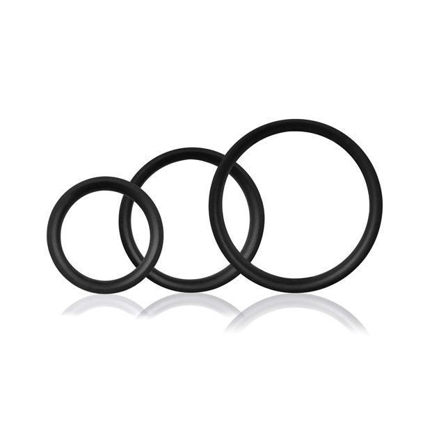 The Screaming O - RingO Pro 3 Soft Stretchy Cock Rings (Black)