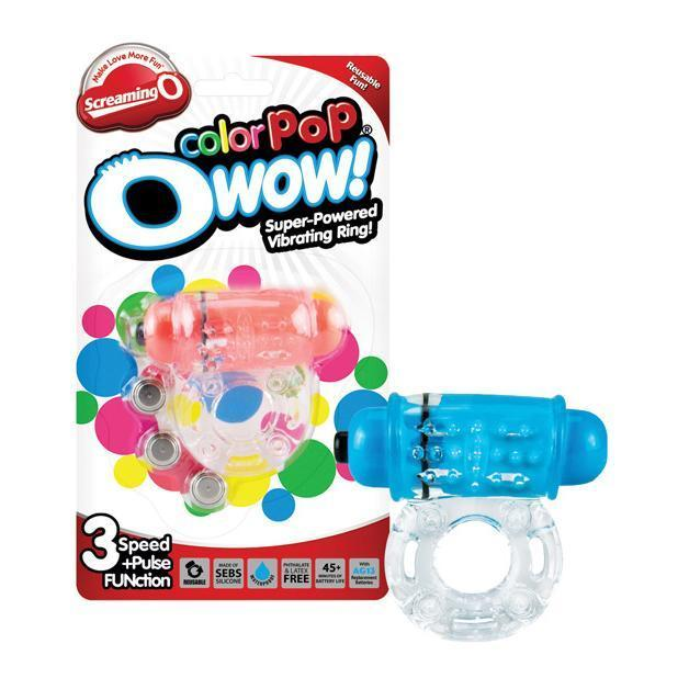 TheScreamingO - ColorPoP OWow Super Powered Vibrating Cock Ring (Blue)