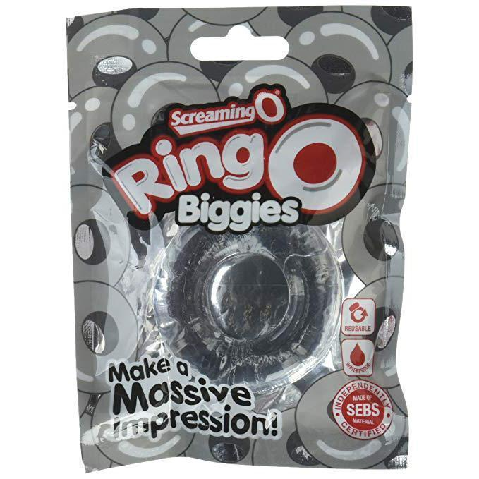 TheScreamingO - RingO Biggies Rubber Cock Ring (Clear) Rubber Cock Ring (Non Vibration) Singapore
