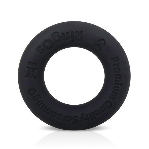 TheScreamingO - RingO Ritz Soft Silicone Cock Ring (Black) Silicone Cock Ring (Non Vibration) Singapore