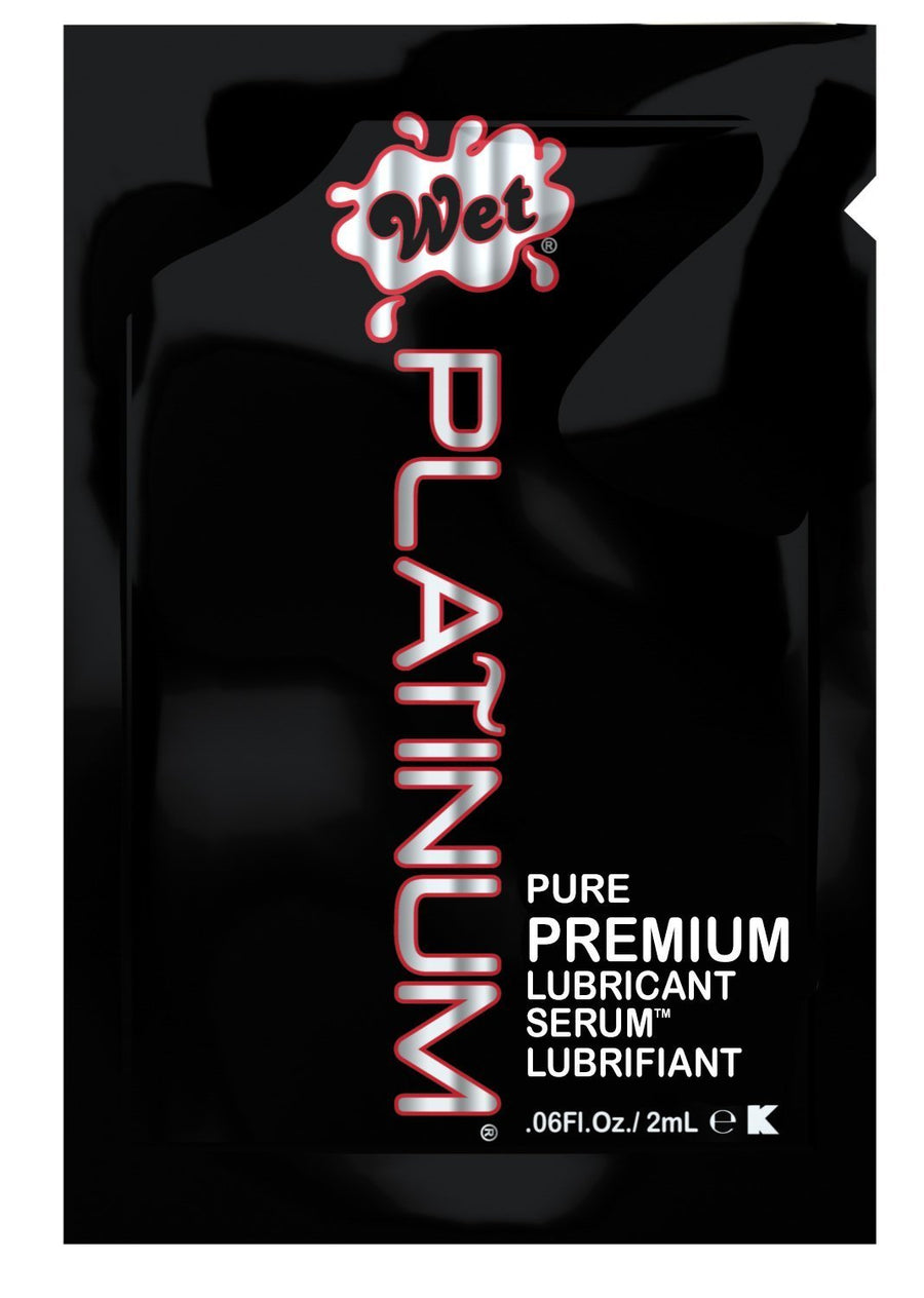 Wet - Platinum Pure Premium Lubricant 2ml (Black) Lube (Silicone Based) Singapore