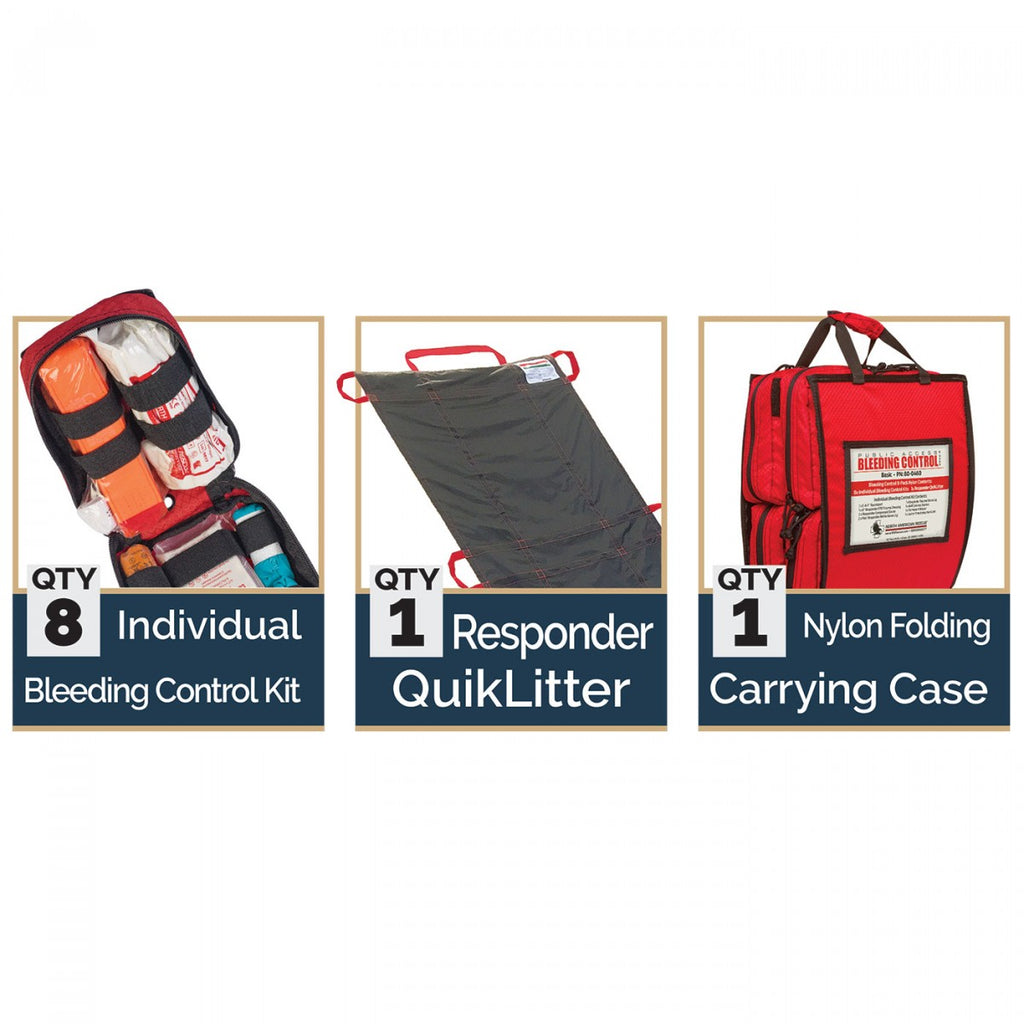 Stop The Bleed Large (8) Kits