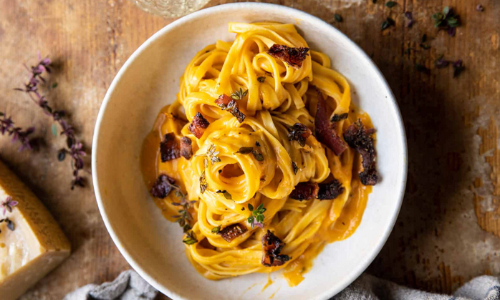Fall Recipes: Butternut Squash Carbonara