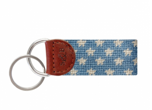 Stars and Stripes Needlepoint Key Fob
