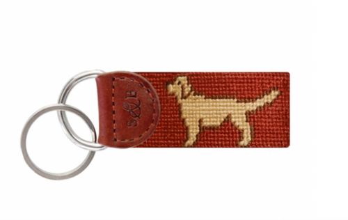 Retriever Needlepoint Key Fob