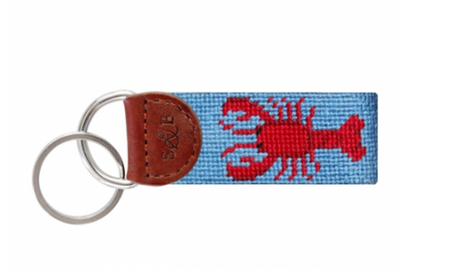 Lobster Needlepoint Key Fob