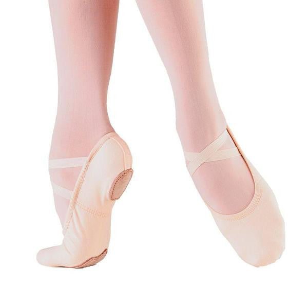 SD16 Bliss White Adult Stretch Canvas Ballet Shoe by SoDanca